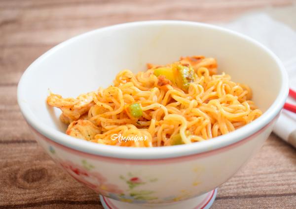 Fideos Maggi Fusian Pasta Oriental con Pollo y Calabacín. Vídeo Receta