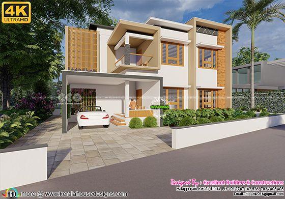 Modern box type house architecture