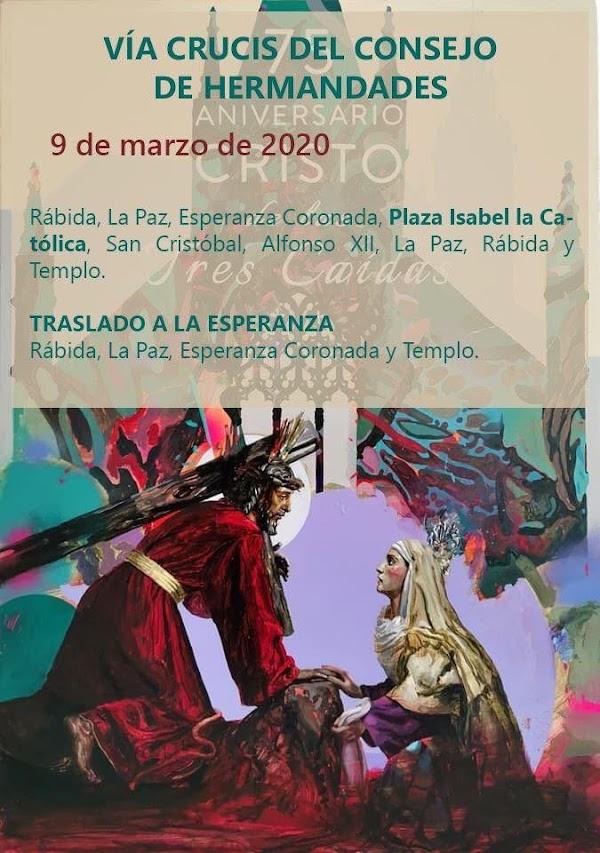 Horario e Itinerario Via+Crucis Oficicial de la Semana Santa de Huelva 2020