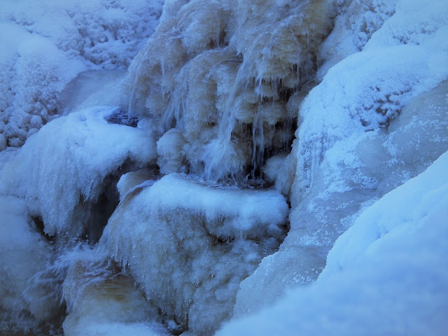 Hourunkoski, jää, talvi, jäätynyt koski