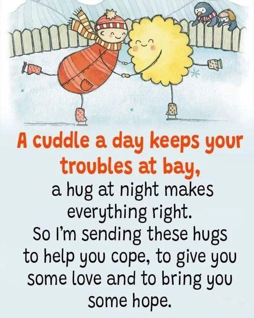 A cuddle a day...