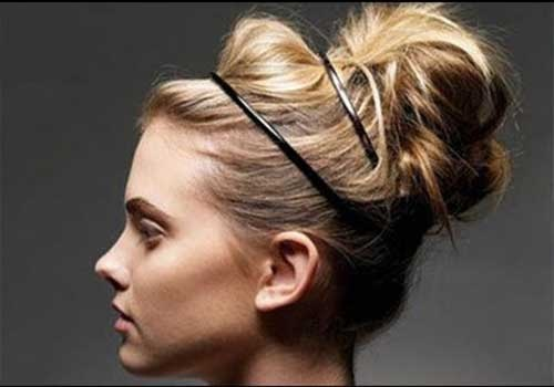 Modern Messy Bun Hairstyle