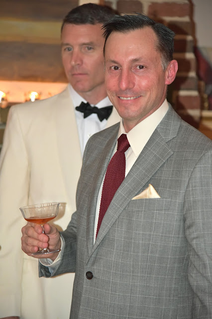 Chef Reiton could not look more dapper with his Negroni in hand