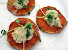 Sweet Potato Rounds with Goat Cheese and Harissa