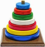 Mainan Edukasi Anak Color Tower Bundar