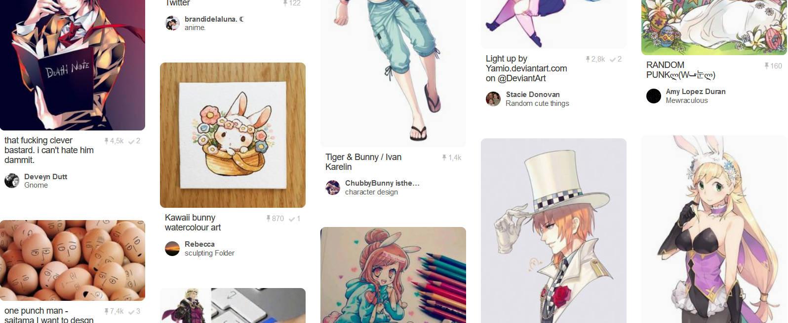 Pinterest - Wielkanoc w anime