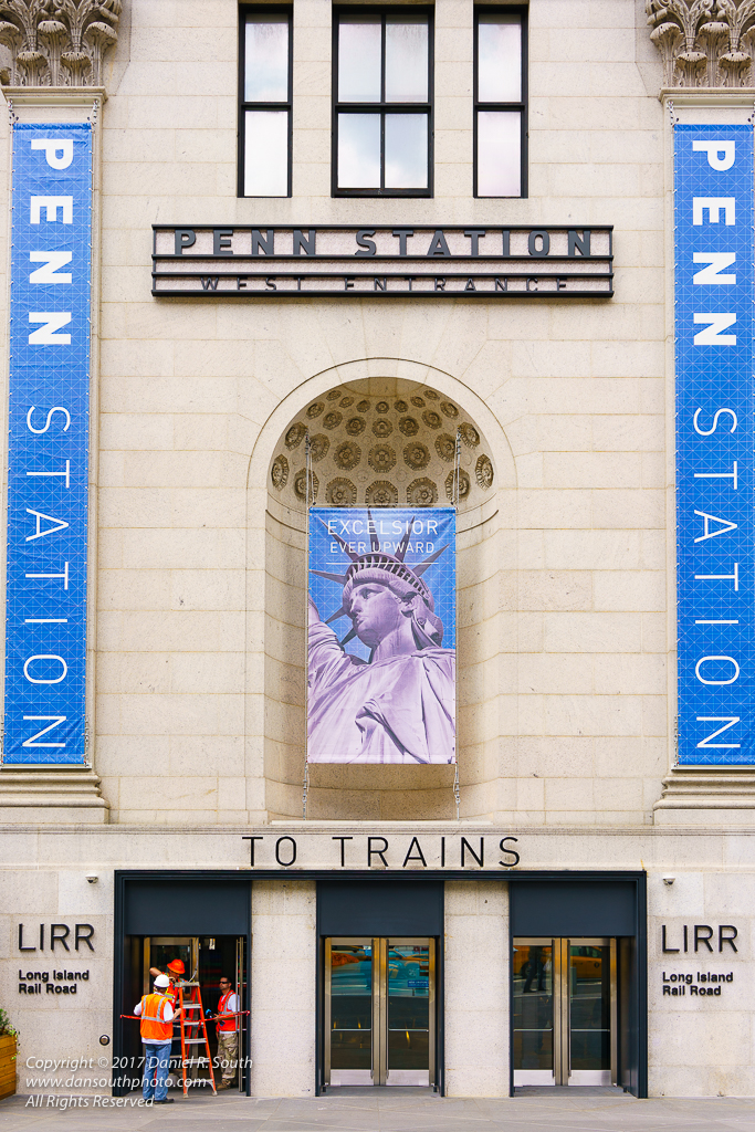 a photo of the Entrance to the New Penn Station in New York