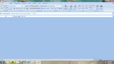 Mengatasi File Ms Excel Blank Pada Saat di Buka