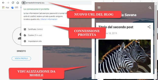 redirect di blogger a un dominio personalizzato