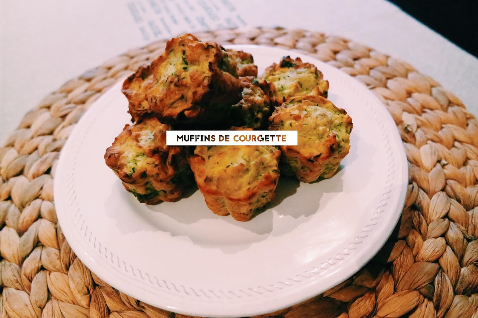 muffins de courgette fit