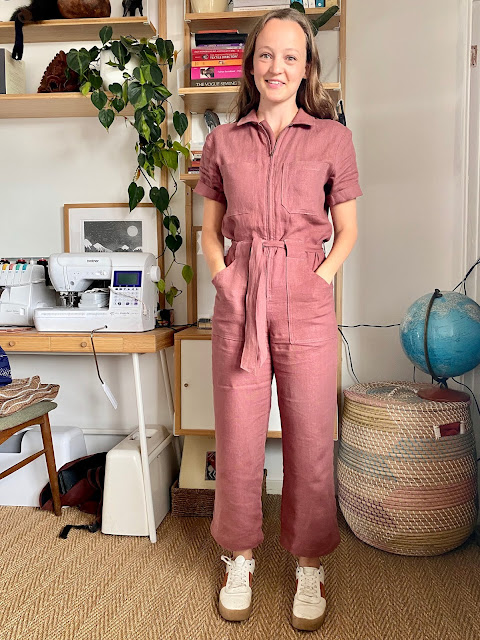 Diary of a Chain Stitcher: Closet Case Patterns Blanca Flight Suit in Maple Vintage Finish Linen from The Fabric Store
