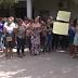 concursados protesta  devido ao atraso no pagamento do 13º salário