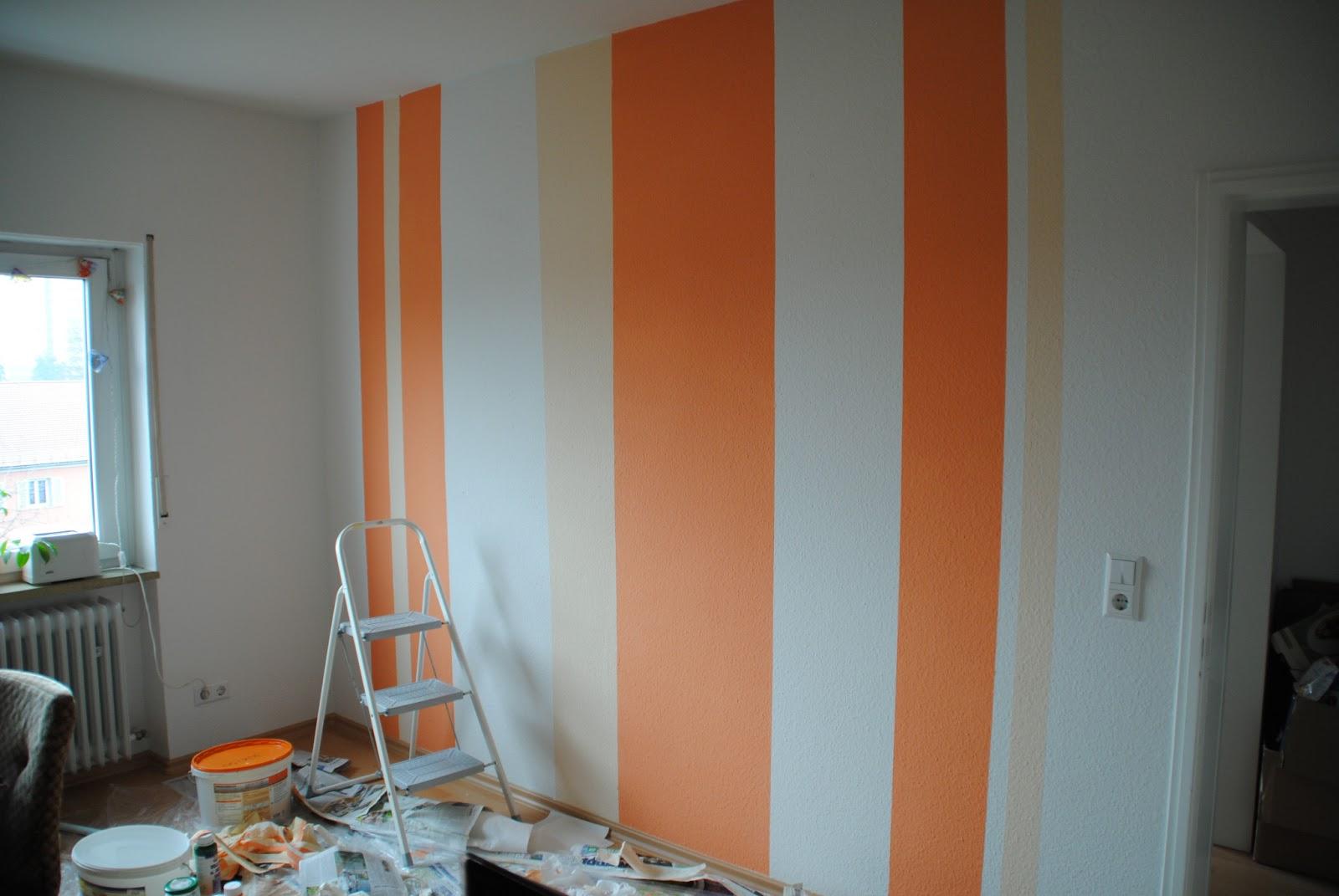 Wohnzimmer Ideen Wandgestaltung Streifen   Schlafzimmer Wie Streichen