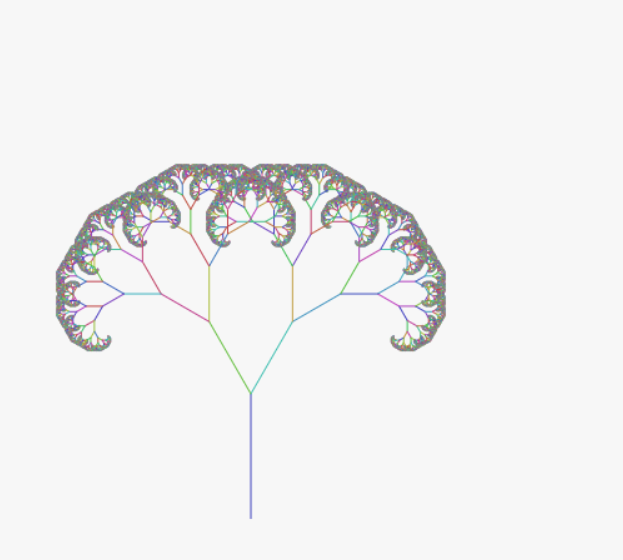 How to draw fractal tree in html5