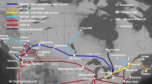 canadian railway map