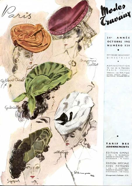 magazine mode et travaux octobre 1942 modistes gilbert orcel suzanne talbot gabrielle albouy sygur
