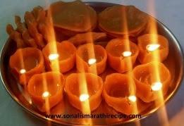 कणकेचे दिवे, फळ आणि मुटके मराठीमध्ये  - kankeche dive(Flour Lamp), fal, & mutke recipe in marathi