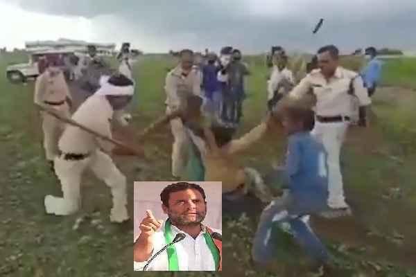 rahul-gandhi-share-video-policemen-beating-some-youth-news