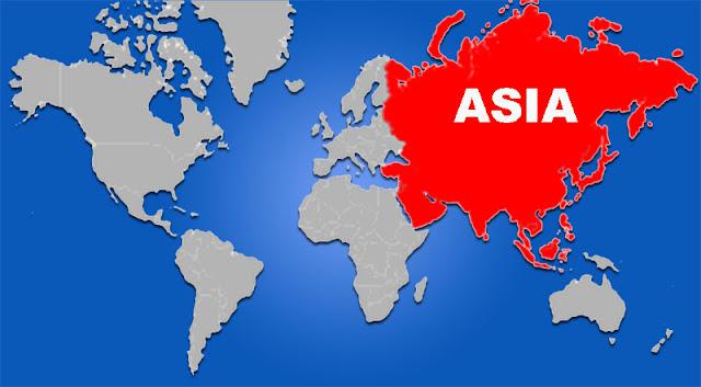 Gambar Peta letak Benua Asia