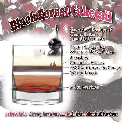 Black Forest Caketail Cocktail Recipe with Ingredients and Instructions