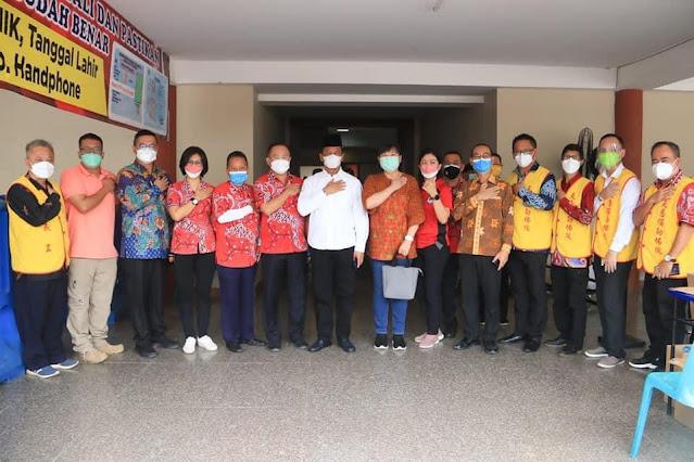 Tinjau Vaksinasi di Vihara Duta Maitrey, Rudi Ucapkan Terima Kasih kepada PMSTI