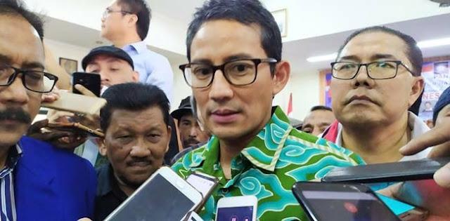 Sandiaga Uno Tegaskan Berada Di Luar Pemerintahan Jokowi-Maruf