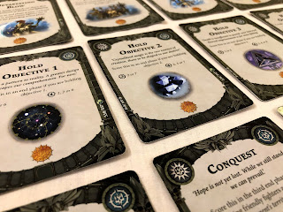 A selection of objectives from Warhammer Underworlds: Nightvault