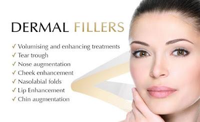 Bio Dermal Fillers for Skin त्वचा को भरने के लिए त्वचा का उपचार. Face depicted for beauty