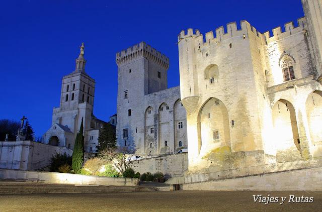 Catedral y Palacio Papal, Avignon, ciudad Papal