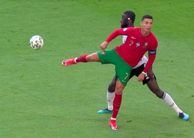 Cristiano Ronaldo and Rudiger