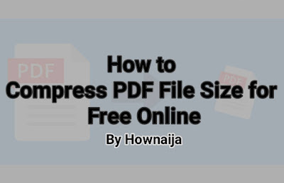 How to Compress PDF File Size for Free Online