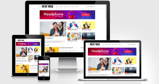 Blogger Template Neat Mag Responsive