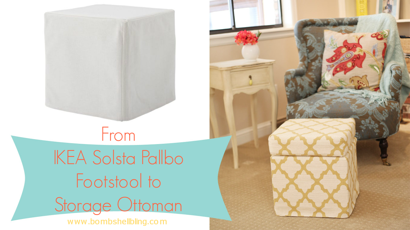 - From Ikea Footstool To Custom Made Storage Ottoman!