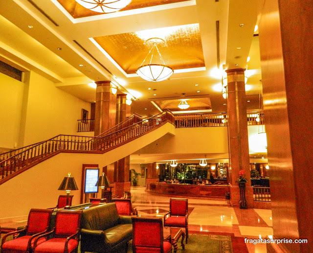 Recepção e lobby do Hotel Barceló Guatemala City
