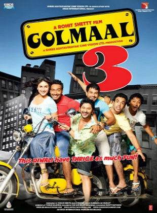 Golmaal 3 2010 Full Hindi Movie Download BRRip 720p