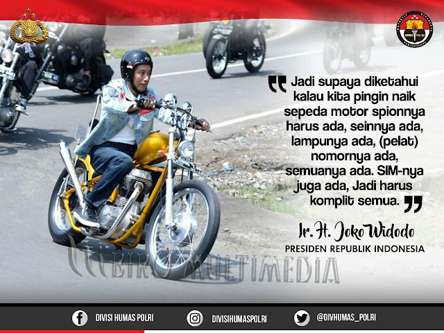Tiga Pelanggaran Jokowi Saat Berkendara Motor
