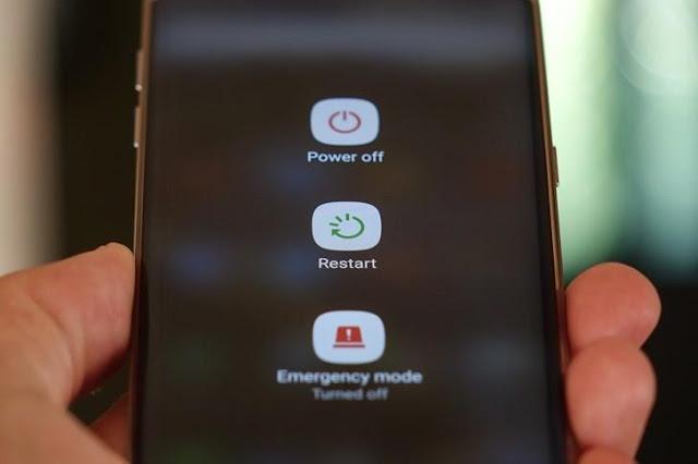handphone susah untuk dimatikan dan shutdown lama