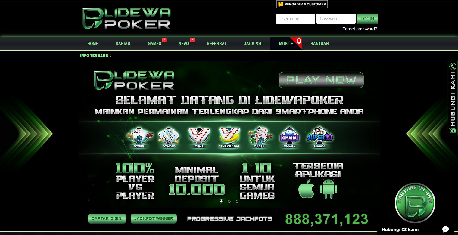 lidewapoker poker online