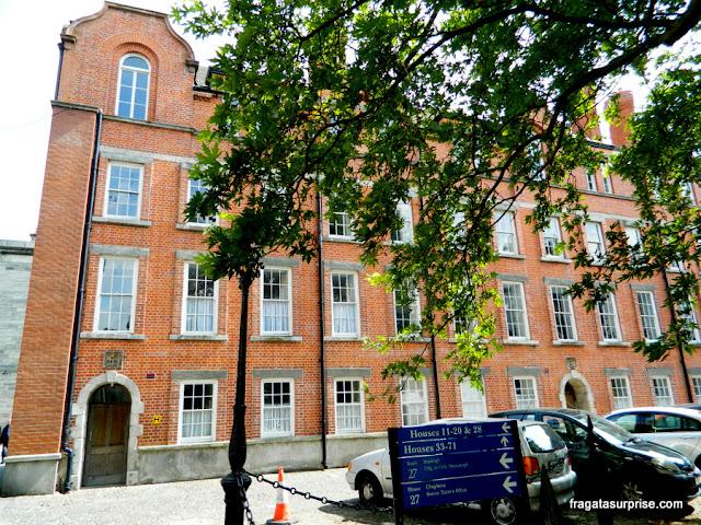 Alojamento de estudantes no Trinity College, em Dublin