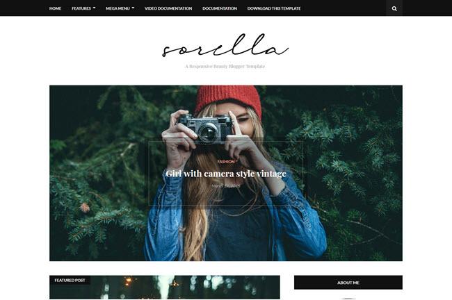 Sorella - Responsive Beauty Blogger Template