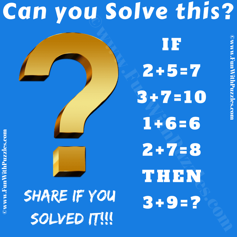 brain teaser answer Adult question