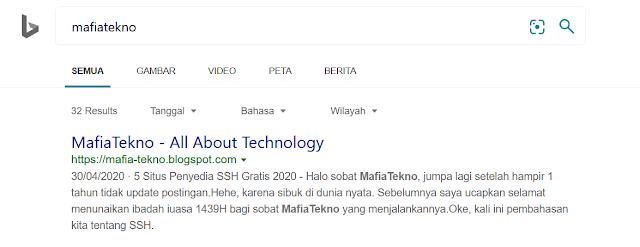 Cara Ping Website ke Google Supaya Terindeks dengan Cepat - Bing