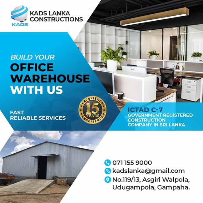Build your Office / Warehouse with us - KADS LANKA Constructions