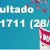 Resultado Dupla Sena/Concurso 1711 (28/10/17)