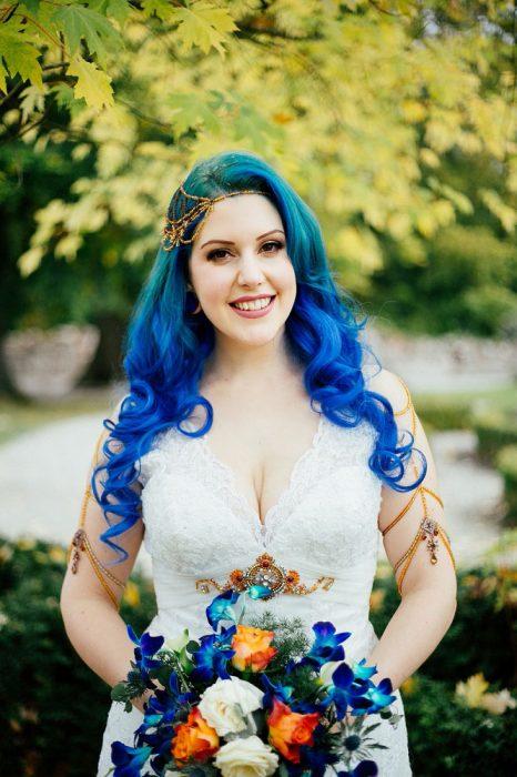 Luce sensual y única con un degradado de azul