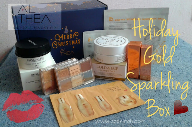 Althea Holiday Gold Sparkling Box