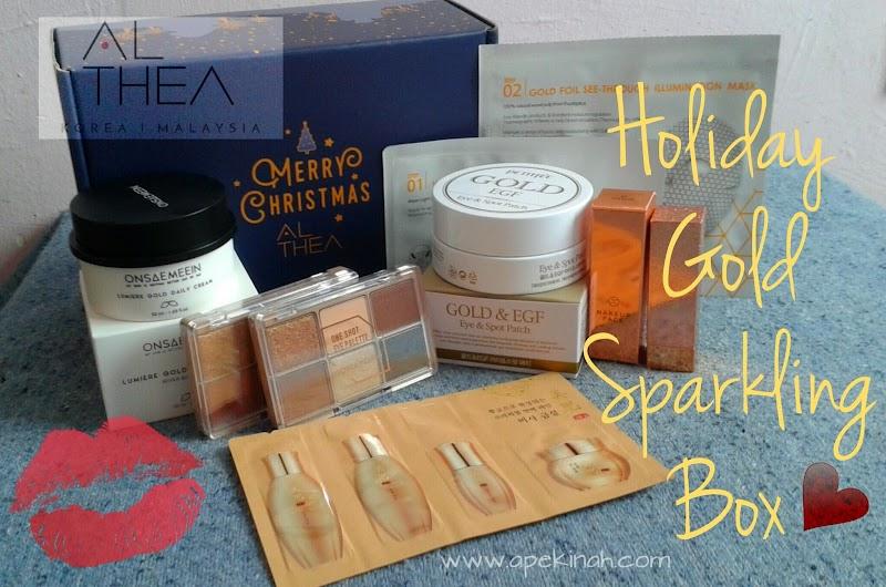 Althea Holiday Gold Sparkling Box