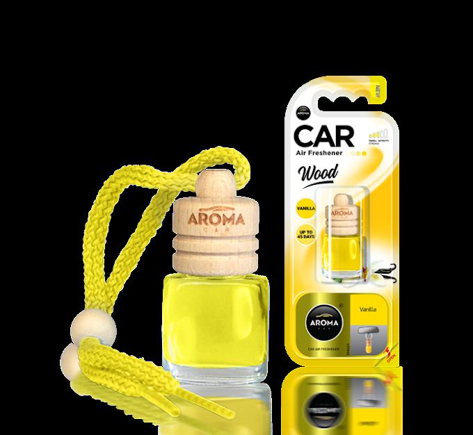 Tinh dầu treo ô tô Aroma Car Wood 6ml - Vanilla