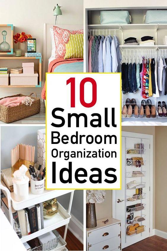 Genius small bedroom organization