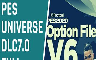 PESUniverse Option File | V6 | DLC7.0 | PES2020 | PS4 | PC